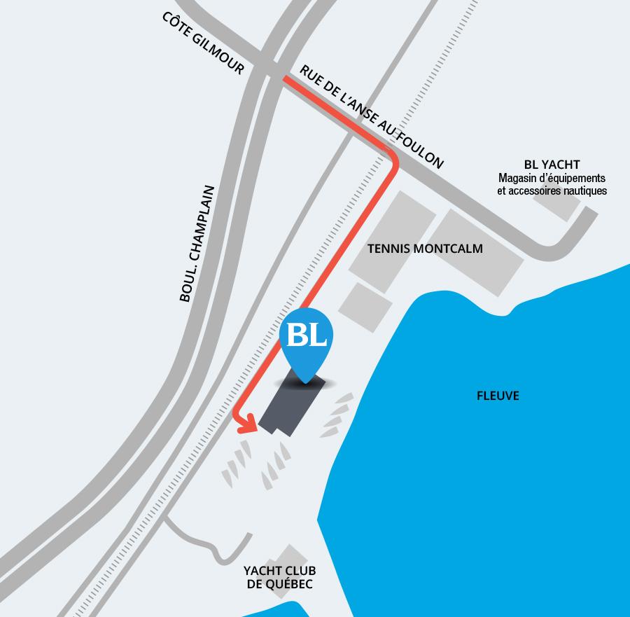 Plan de location pour BL Yacht